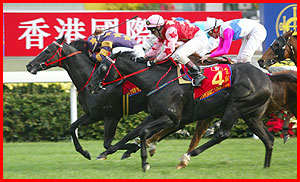 Olympic Express  s'impose devant Electronic Unicorn dans le Hong Kong Mile 2002